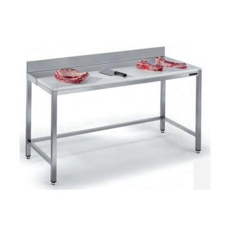Table de découpe adossée avec étagère - 1200x700