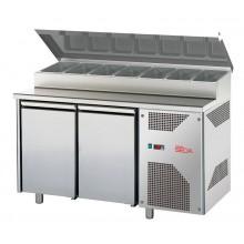Meuble préparation réfrigéré - 2 portes - profondeur 700