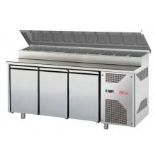 Meuble préparation réfrigéré - 3 portes - profondeur 700