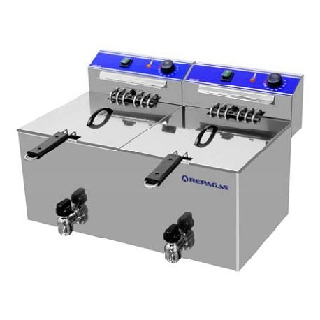 Friteuse électrique 2 x 10 litres professionnelle Espace Hotelier Beziers