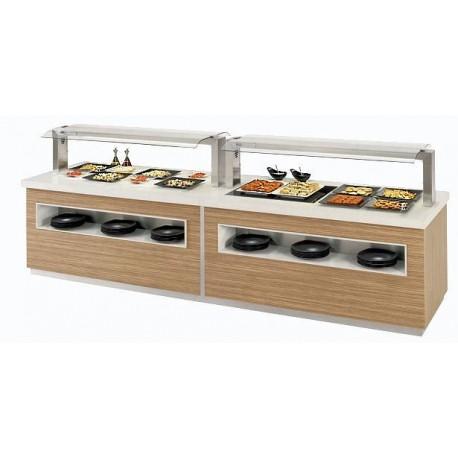 Buffet réfrigéré, Buffet chaud, neutre, mixte, buffet de restauration, Espace Hotelier Beziers