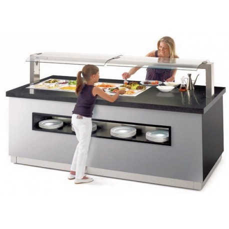 Buffet Cuve froide, Buffet chaud, réfrigéré, neutre, mixte, buffet de restauration, Espace Hotelier Beziers