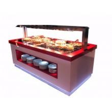 Buffet Chaud rouge et blanc