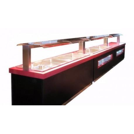 Buffet self service, Buffet chaud, réfrigéré, neutre, mixte, buffet de restauration, Espace Hotelier Beziers