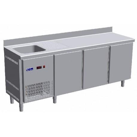 Meuble Refrigere Avec Evier 3 Portes Equipement De Bar Espace Hotelier Beziers