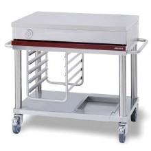 Table mobile de préparation longueur 1200