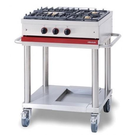 Table de cuisson 3 feux mobile Ambassade - Espace Hotelier Beziers